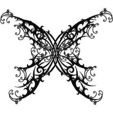 Best Gothic Butterfly Tattoo