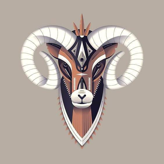 Best Ram Head Tattoo Design