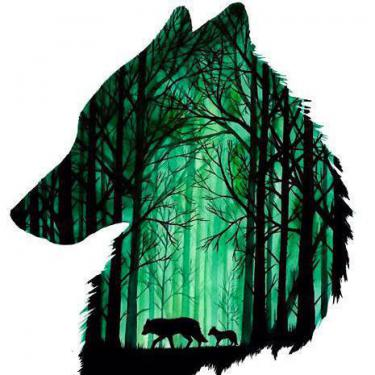 Best Wolf Head Green Tattoo