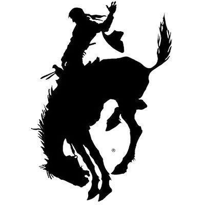 Cool Black Bucking Horse Tattoo Design
