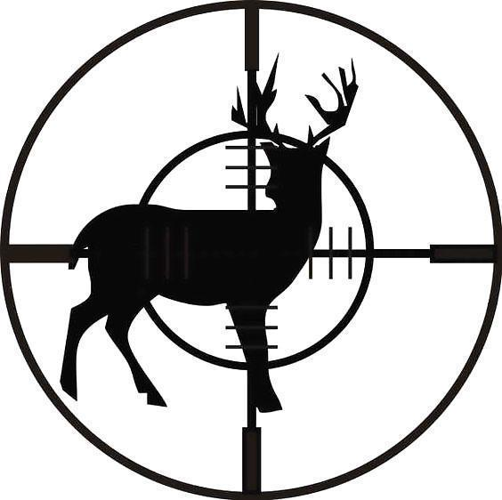 Black Deer Hunting Tattoo Design
