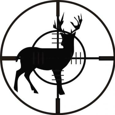 Black Deer Hunting Tattoo