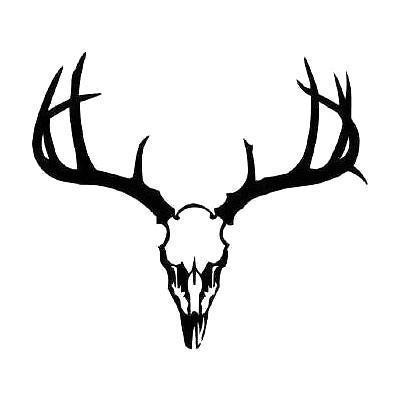 Black Deer Skull Tattoo Design