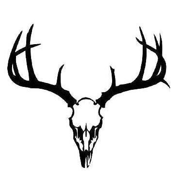Black Deer Skull Tattoo