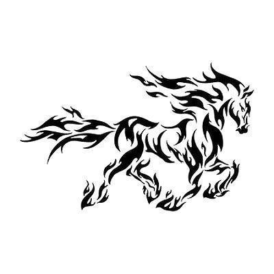 Black Horse Tattoo Design