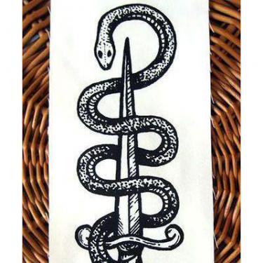 Black Snake and Dagger Tattoo