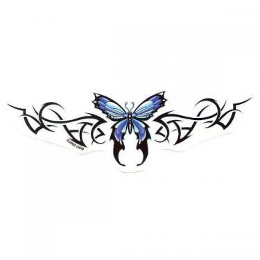 Blue Butterfly Tramp Stamp Tattoo