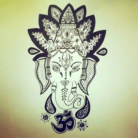 Buddha Elephant Tattoo Design
