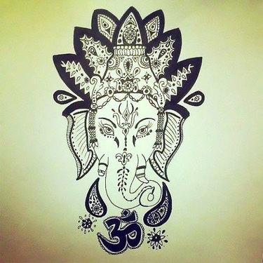 Buddha Elephant Tattoo