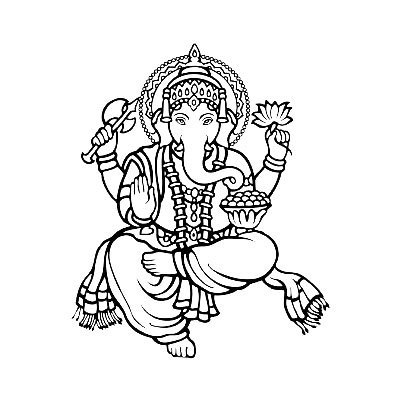 Ganesh God Tattoo Design