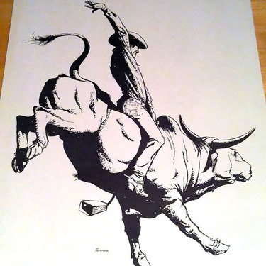 Bull Riding Tattoo
