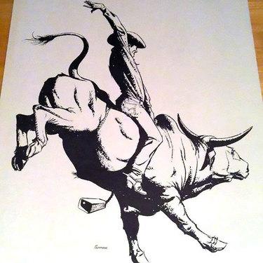 Bull Riding Tattoo