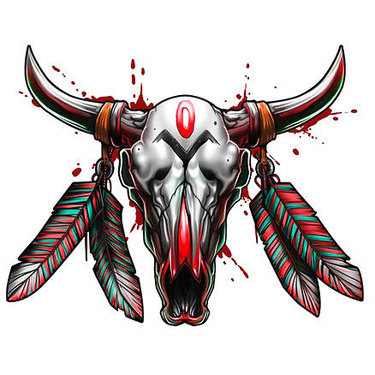 Bull Skull Amazing Tattoo