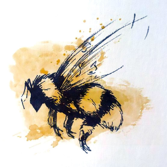Bumble Bee Tattoo Design