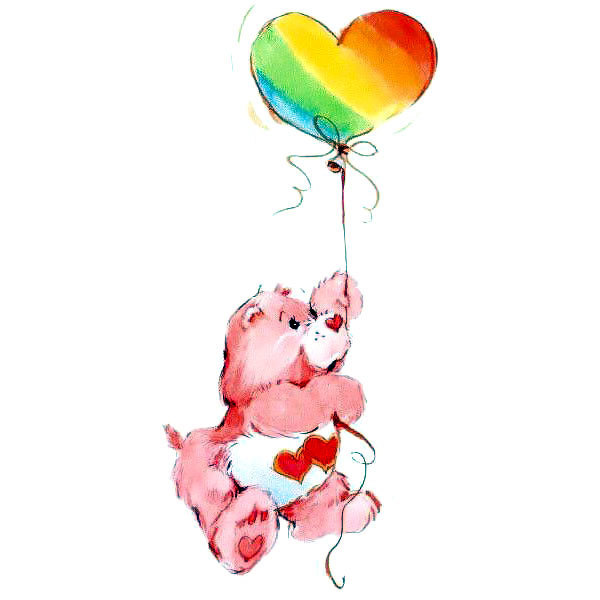 Care Bear Flying Tattoo Design