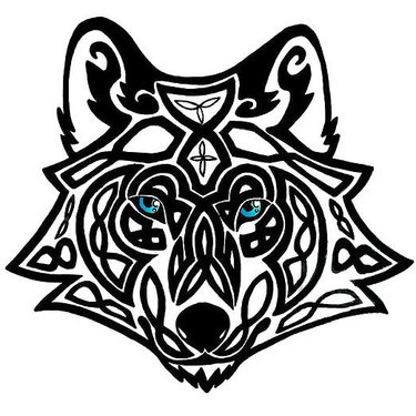 Celtic Wolf Head Tattoo