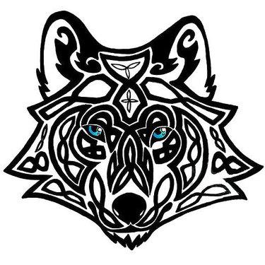 Celtic Wolf Head Tattoo