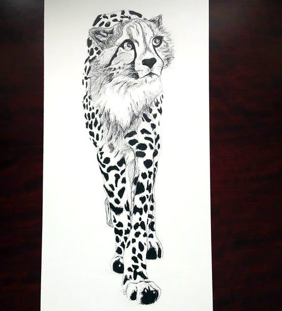 Cheetah Beautiful Tattoo Design