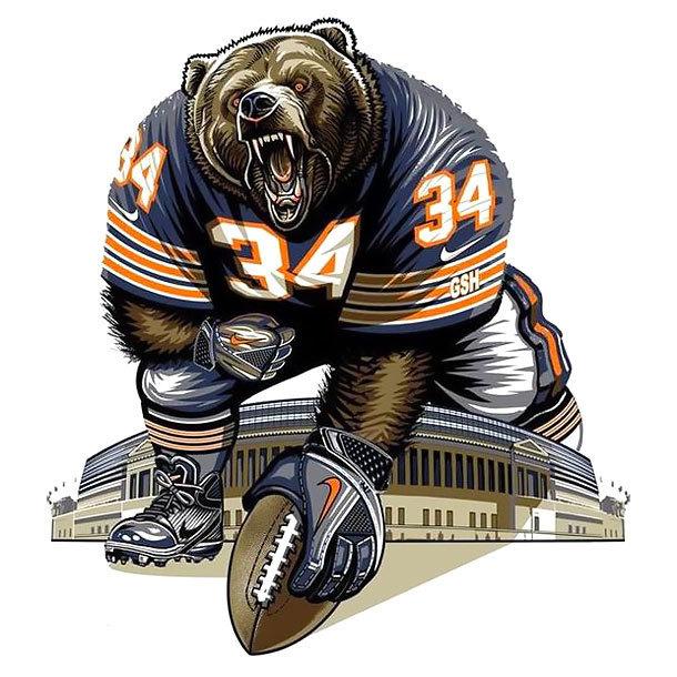 Chicago Bears Tattoo Design