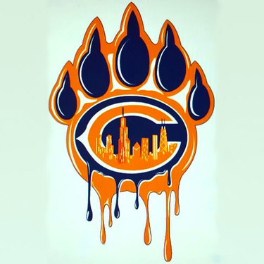 Chicago Bears Paw Tattoo