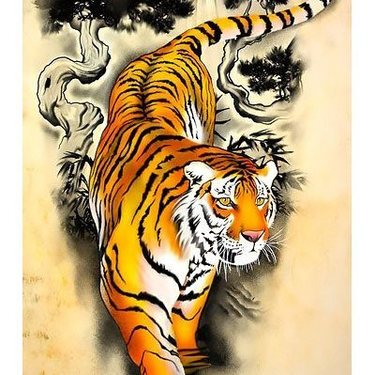 Chinese Tiger Sleeve Tattoo