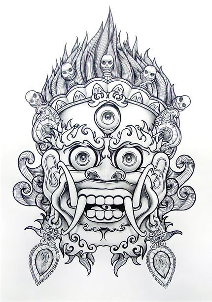 Chinese Lion Tattoo Design