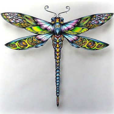 Colorful Dragonfly Tattoo