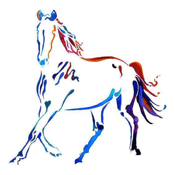Colorful Horse Tattoo Design