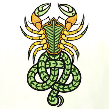 Colorful Scorpion Tattoo