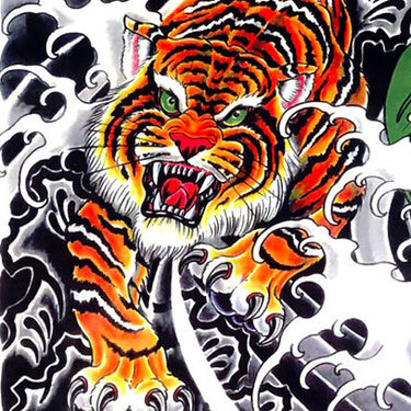Cool Asian Tiger Tattoo