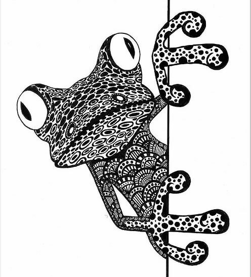 Cool Best Frog Tattoo Design
