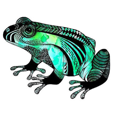 Cool Colorful Frog Tattoo