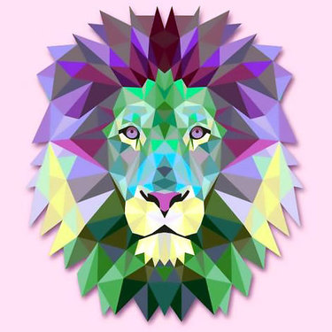 Cool Geometric Lion Tattoo