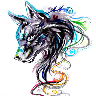 Cool Girly Wolf Tattoo
