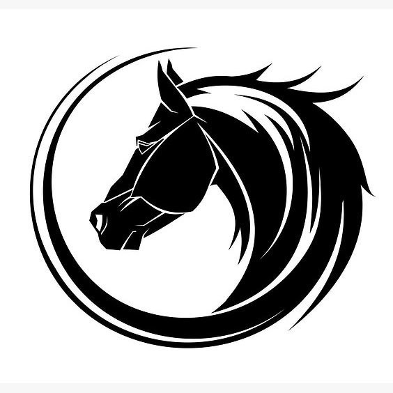 Cool Horse Head Tattoo Design