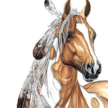 Cool Indian Horse Tattoo
