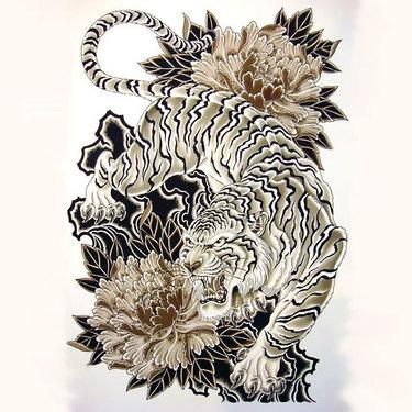 Cool Japanese Tiger Tattoo