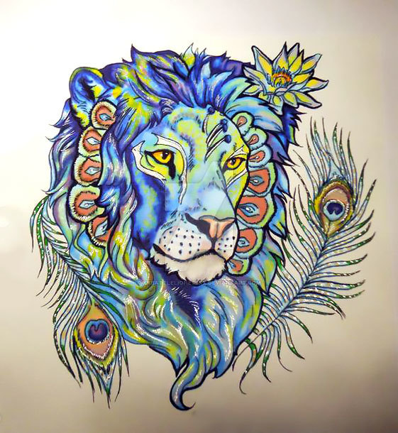 Cool Lion Tattoo Design
