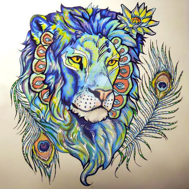 Cool Lion Tattoo