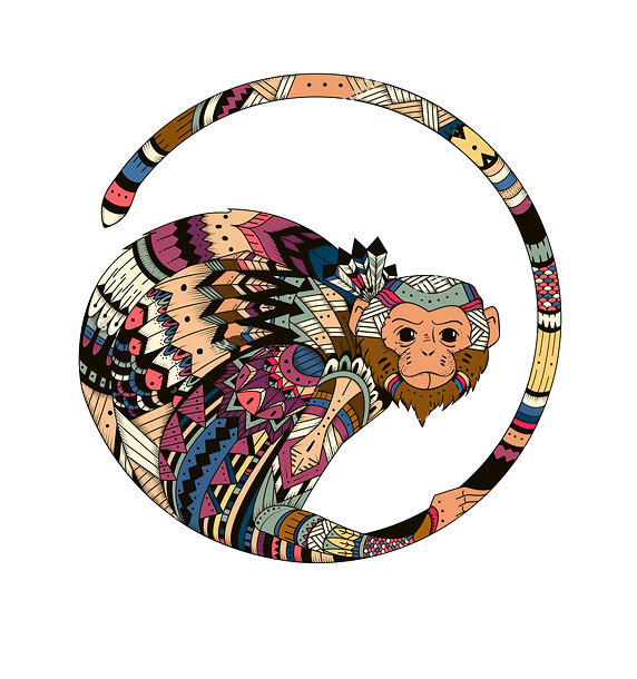 Cool Monkey Tattoo Design