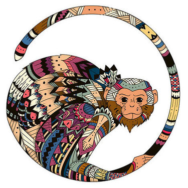 Cool Monkey Tattoo