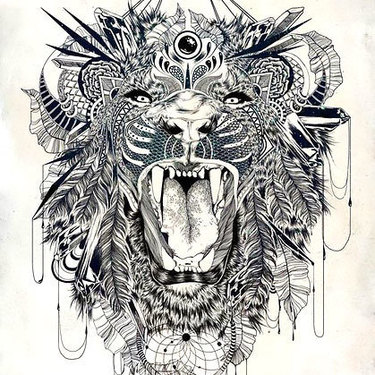 Cool Roaring Lion Tattoo