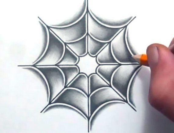 Cool Spider Web Tattoo Design