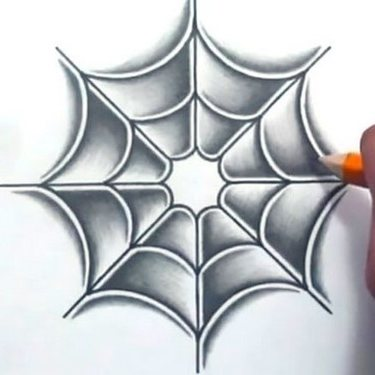 Cool Spider Web Tattoo
