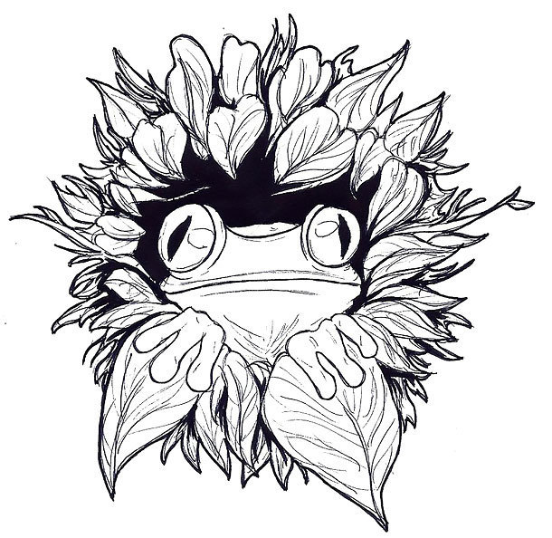 Cool Tree Frog Tattoo Design