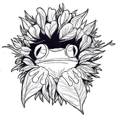 Cool Tree Frog Tattoo