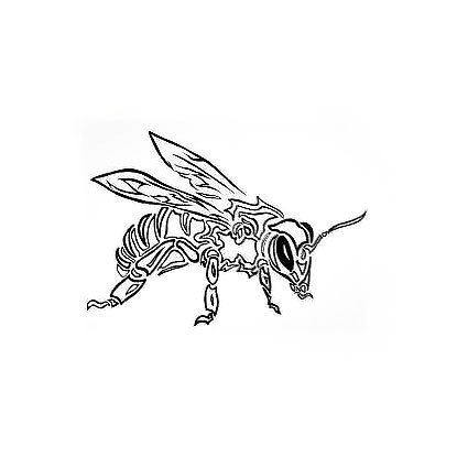 Cool Tribal Bee Tattoo Design