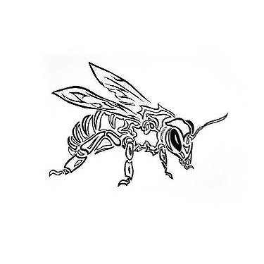 Cool Tribal Bee Tattoo