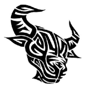 Cool Tribal Bull Head Tattoo