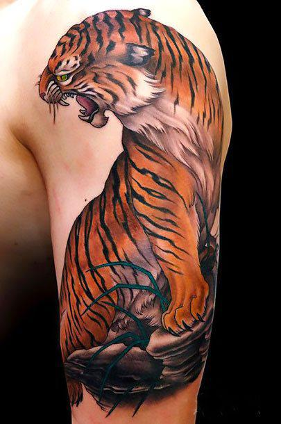 Awesome Japanese Tiger Tattoo Idea
